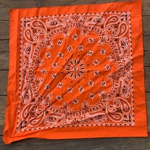 Vintage Orange Cotton Bandana
